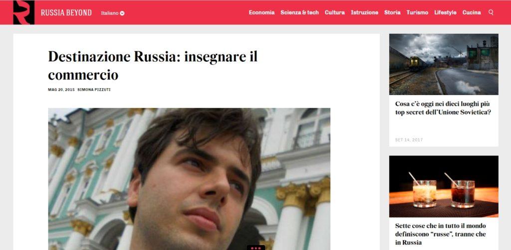 Intervista a Giulio Gargiullo esperto di Russia sul magazine Russia Beyond The Headlines