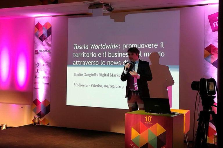 Giulio Gargiullo a Medioera su come promuovere il territorio e le aziende nel mondo attraverso le news digitali